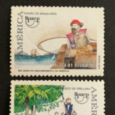 Sellos: BRASIL UPAEP 1991 MNH (FOTOGRAFÍA REAL). Lote 211598820
