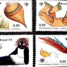 Sellos: BRASIL. 1397/1400 AÑO INTERNACIONAL DEL NIÑO: JUGUETES. 1979. SELLOS NUEVOS Y NUMERACIÓN YVERT.. Lote 215785288