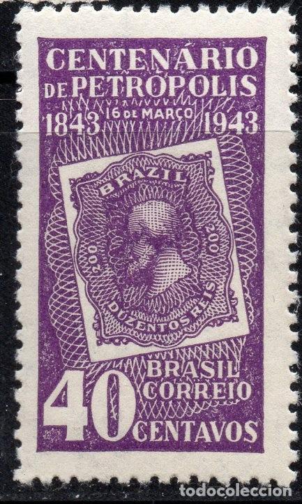 BRAZIL/1943/MNH/SC#608/ CENTENARIO DE LA CIUDAD DE PETROPOLIS (Sellos - Extranjero - América - Brasil)