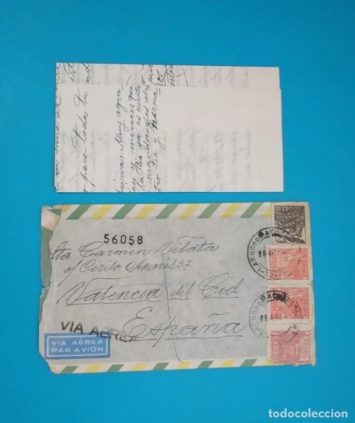 CARTA DE BRASIL A ESPAÑA, DESDE RIO DE JANEIRO A VALENCIA AÑO 1954 (Sellos - Extranjero - América - Brasil)