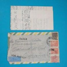 Sellos: CARTA DE BRASIL A ESPAÑA, DESDE RIO DE JANEIRO A VALENCIA AÑO 1954. Lote 217636221