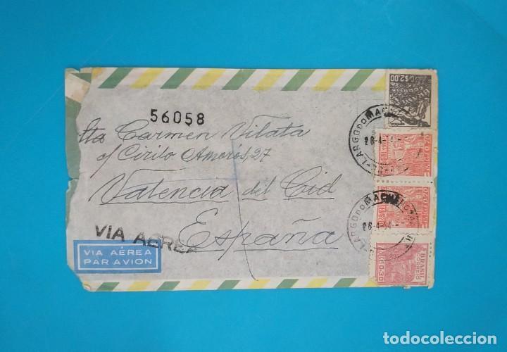 Sellos: CARTA DE BRASIL A ESPAÑA, DESDE RIO DE JANEIRO A VALENCIA AÑO 1954 - Foto 2 - 217636221
