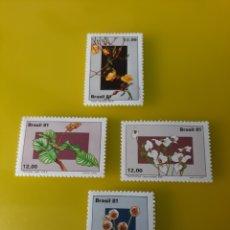 Sellos: FLORA BRASIL SERIE COMPLETA NUEVA YVERT 1496/9 FILATELIA COLISEVM. Lote 219697145
