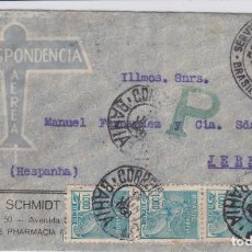 Sellos: CARTA DE BRASIL A JEREZ, CON MARCA CONDOR ZEPPELINN BRASIL EUROPA.. Lote 220670008