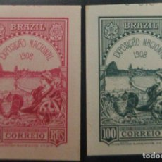 Sellos: O) 1908 BRASIL, DIE PROOF - PRUEBA, EMBLEMAS ALEGÓRICOS LIBERTAD PAZ 100 REALES. AMERICAN BANK NOTE. Lote 221680402