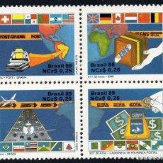 Sellos: BRASIL 1989 IVERT 1906/9 *** 20º ANIVERSARIO DE LA EMPRESA BRASILEÑA DE CORREOS Y TELEGRAFOS. Lote 225152393
