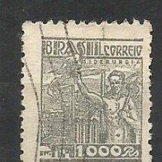 Sellos: BRASIL, STEEL IDUSTRY, AÑO 1941/42 - SCOTT # 522. Lote 225596507