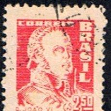 Sellos: BRASIL // YVERT 677 // 1959-60 ... USADO. Lote 226367220