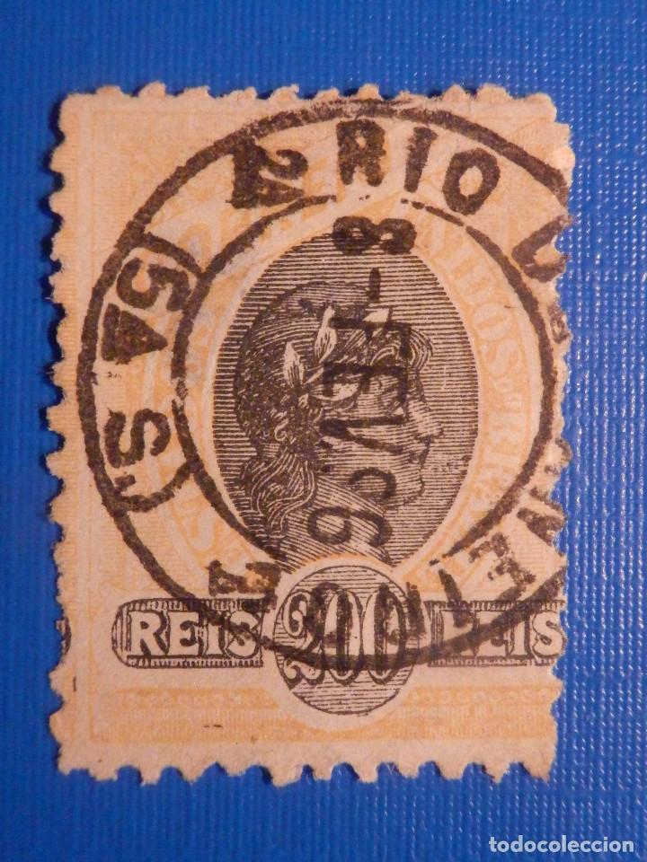 ANTIGUO RARO SELLO - ESTADOS UNIDOS DO BRASIL - 200 REIS - CORREIO - 1896 (Sellos - Extranjero - América - Brasil)