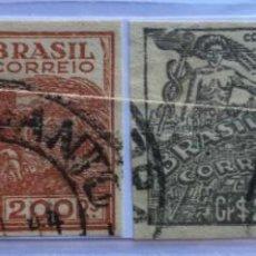 Sellos: 4 SELLOS DE BRASIL 1946 SIN DENTAR. Lote 238337680