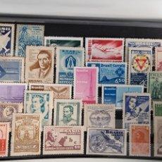Sellos: LOTE SELLOS BRASIL AÑOS 40 Y 50 NUEVOS LIS DE LA FOTO. Lote 244816185