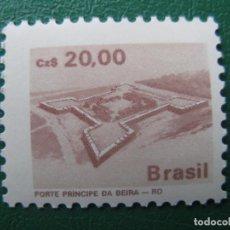 Sellos: *BRASIL, 1987, PATRIMONIO ARQUITECTONICO, YVERT 1844. Lote 245266955