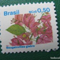 Sellos: *BRASIL, 1989, FLORA BRASILEÑA, YVERT 1923. Lote 245268755
