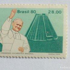 Sellos: BRASIL 1980,PAPA JOÃO PAULO II. NOVO. Lote 246264070