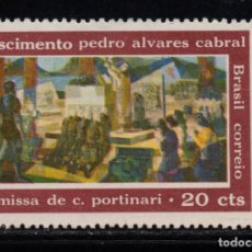 Sellos: BRASIL 858** - AÑO 1968 - 5º CENT. DEL NACIMIENTO DE PEDRO ALVARES CABRAL, DESCUBRIDOR DE BRASIL. Lote 252881690
