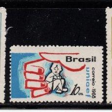 Sellos: BRASIL 869/71** - AÑO 1968 - 22º ANIVERSARIO DE UNICEF. Lote 252881810