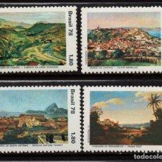 Sellos: BRASIL 1342/45** - AÑO 1978 - PINTURA - PAISAJES - OBRAS DE PINTORES BRASILEÑOS. Lote 252882040