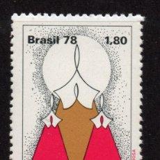 Sellos: BRASIL 1353** - AÑO 1978 - DIA NACIONAL DE ACCION DE GRACIAS11. Lote 252883135