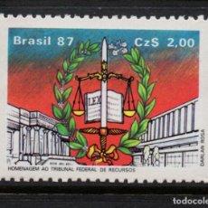 Sellos: BRASIL 1837** - AÑO 1987 - 40º ANIVERSARIO DE LA CORTE DE APELACION. Lote 253477290
