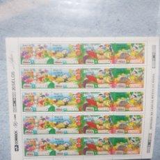 Sellos: BRASIL 1992 HOJA DE VENTA SELLOS NUEVOS CON BORDE DE HOJA. Lote 254075690