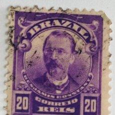 Sellos: SELLO DE BRASIL 20 C - 1906 - BENJAMIN CONSTANT - USADO SIN SEÑAL DE FIJASELLOS. Lote 260473690