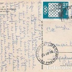 Sellos: BRASIL & MARCOFILIA, SAO PAULO, VALLE DE ANHANGABAÙ, VISTA NOCTURNA, ALPEDRINHA PORTUGAL 1976 (686). Lote 260491555