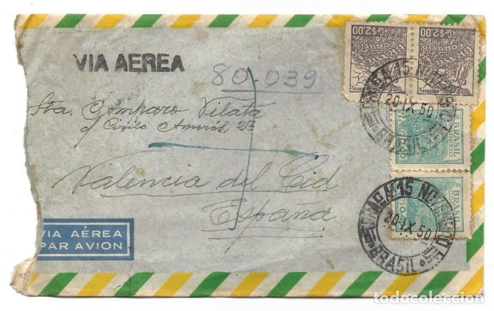 Sellos: LOTE 14 CARTAS CIRCULADAS DE BRASIL A VALENCIA (ESPAÑA) CORREO AÉREO (FOTOGRAFÍAS INDIVIDUALES) - Foto 2 - 261928855