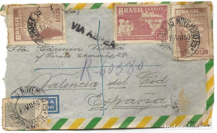 Sellos: LOTE 14 CARTAS CIRCULADAS DE BRASIL A VALENCIA (ESPAÑA) CORREO AÉREO (FOTOGRAFÍAS INDIVIDUALES) - Foto 6 - 261928855