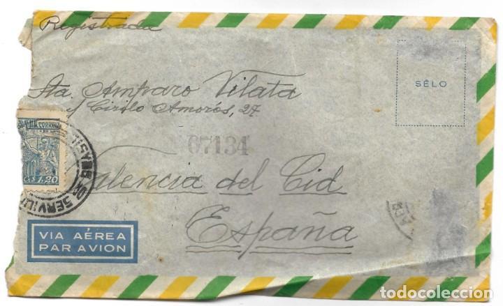 Sellos: LOTE 14 CARTAS CIRCULADAS DE BRASIL A VALENCIA (ESPAÑA) CORREO AÉREO (FOTOGRAFÍAS INDIVIDUALES) - Foto 8 - 261928855