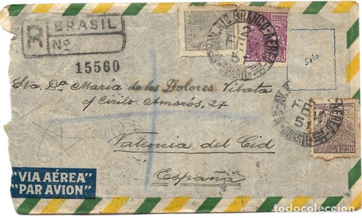 Sellos: LOTE 14 CARTAS CIRCULADAS DE BRASIL A VALENCIA (ESPAÑA) CORREO AÉREO (FOTOGRAFÍAS INDIVIDUALES) - Foto 16 - 261928855