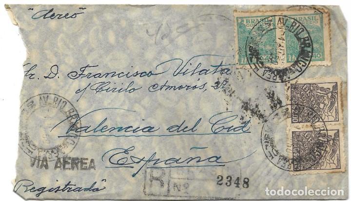 Sellos: LOTE 14 CARTAS CIRCULADAS DE BRASIL A VALENCIA (ESPAÑA) CORREO AÉREO (FOTOGRAFÍAS INDIVIDUALES) - Foto 20 - 261928855