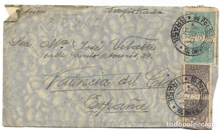 Sellos: LOTE 14 CARTAS CIRCULADAS DE BRASIL A VALENCIA (ESPAÑA) CORREO AÉREO (FOTOGRAFÍAS INDIVIDUALES) - Foto 26 - 261928855