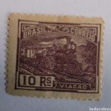 Sellos: SELLO DE BRASIL 1920. 10 RAÍZ COMUNICACIONES NUEVO. Lote 262318565