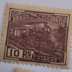 Sellos: SELLO DE BRASIL 1920. 10 RAÍZ COMUNICACIONES NUEVO. Lote 262318675