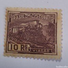 Sellos: SELLO DE BRASIL 1920. 10 RAÍZ COMUNICACIONES NUEVO. Lote 262318755