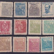 Sellos: FC2-206- ANTIGUOS BRASIL . BÁSICA 1947 /55 X 12 VALORES NUEVOS * /(*). Lote 262674475