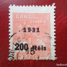 Sellos: *BRASIL, 1931, SELLO SOBRECARGADO YVERT 235A. Lote 271376723