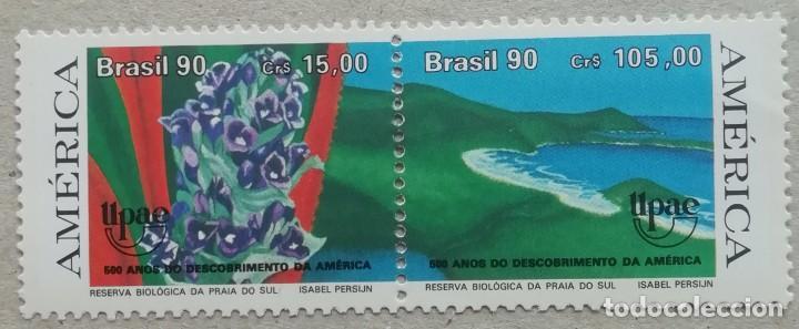 1990. BRASIL. 1986-A. 500 ANIV. DESCUBRIMIENTO DE AMÉRICA. PRAIA DO SUL. SERIE COMPLETA. NUEVO. (Sellos - Extranjero - América - Brasil)