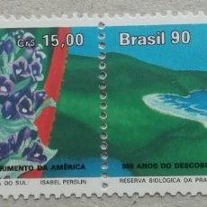 Sellos: 1990. BRASIL. 1986-A. 500 ANIV. DESCUBRIMIENTO DE AMÉRICA. PRAIA DO SUL. SERIE COMPLETA. NUEVO.. Lote 276669233