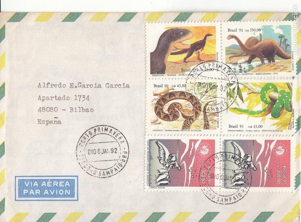 CORREO AEREO: BRASIL 1992 (Sellos - Extranjero - América - Brasil)
