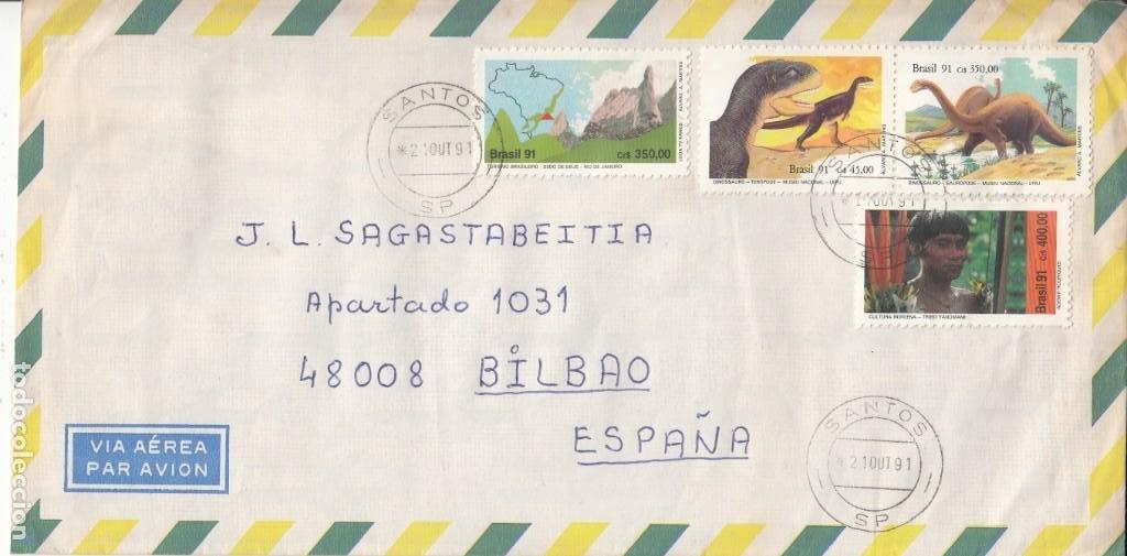 CORREO AEREO: BRASIL 1991 (Sellos - Extranjero - América - Brasil)