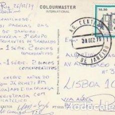 Sellos: BRASIL & MARCOFILIA, EXETER, CENTRO CIVIL, RIO DE JANEIRO A LISBOA 1979 (1115). Lote 277219548