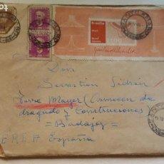 Sellos: SOBRE + FELICITACION NAVIDEÑA 1969 BRASIL - BADAJOZ. Lote 286144733