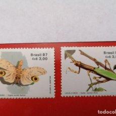 Sellos: SELLOS BRASIL,1987,SERIE COMPLETA 2 UNID. NUEVOS **,. Lote 286927403