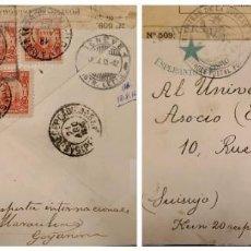 Sellos: O) BRASIL 1915, CORRESPONDENCIA MILITAR, ABIERTA POR AUTORIDAD MILITAR, GOYANNA PERNAMBUCO, EDUARDO. Lote 287047843