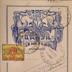 Sellos: O) 1937 BRAZIL MEDICINE, TUBERCULOSIS, FOR THE POOR TUBERCULOSIS LEAGUE, PAULISTA AGAINST TUBERCULO. Lote 287048728