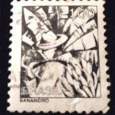 Sellos: RHM BR 590 - BRASIL - BANANA GATHERER. Lote 289547498