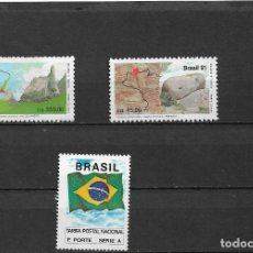 Sellos: BRASIL 1991, SERIE TURISMO Y TARJETA POSTAL. MNH.. Lote 293753103
