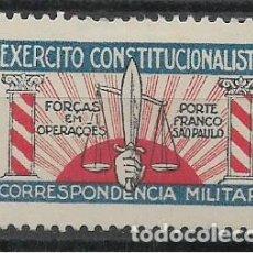 Sellos: BRASIL.-EXERCITO CONSTITUCIONAL- CORRESPONDENCIA MILITAR,COLUMNA.- ROJO- VER FOTO. Lote 295535553