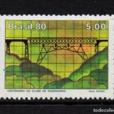 Sellos: BRASIL 1450** - AÑO 1980 - CENTENARIO DEL CLUB DE INGENIEROS - VIADUCTO SAO JAO. Lote 295715513